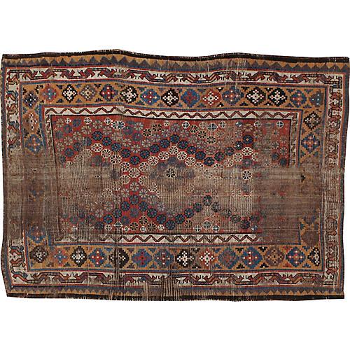 "Distressed Persian Rug, 4'6"" x 6'1"""