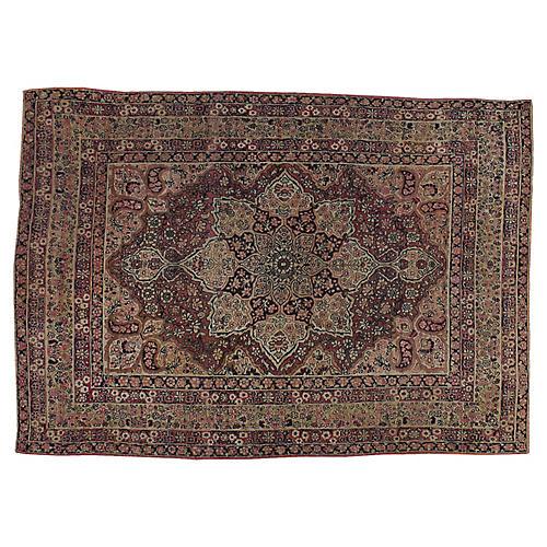 """Antique Persian Lavar Rug, 4'7"""" x 6'5"""""""