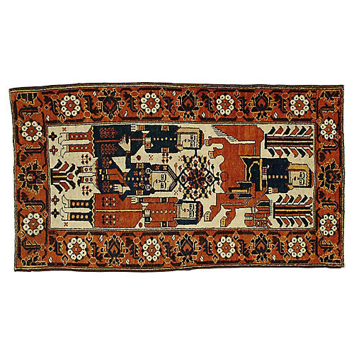"""Pictorial Rug, 3'10"""" x 6'8"""""""