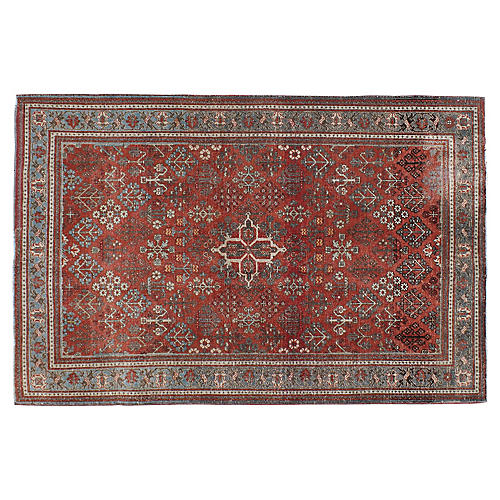 """Antique Persian Rug, 4'5"""" x 6'9"""""""