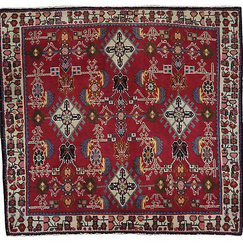 """Persian Rug, 2' x 2'2"""""""