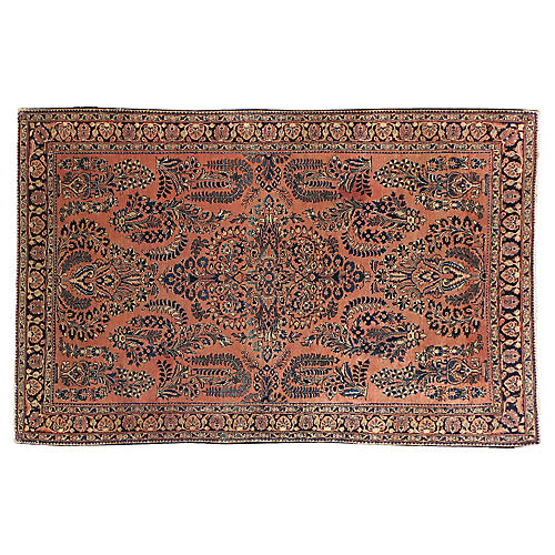 "Antique Persian Rug, 4'1"" x 6'4"""