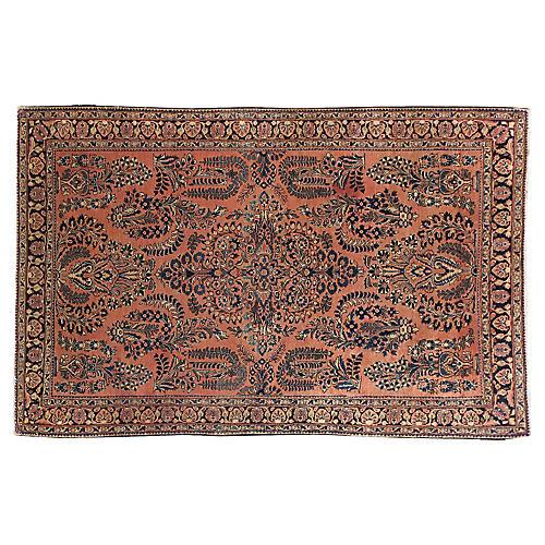 """Antique Persian Rug, 4'1"""" x 6'4"""""""