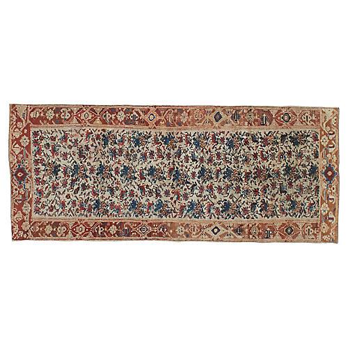 """Antique Persian Rug, 3'7"""" x 8'7"""""""