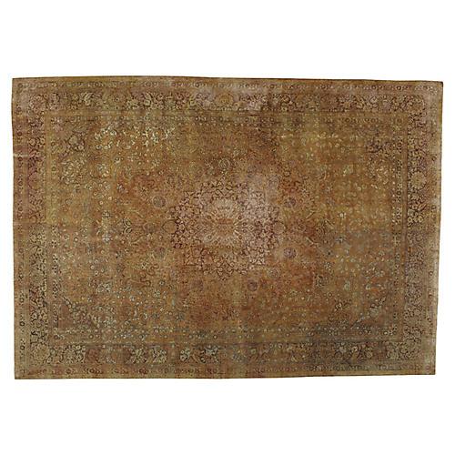 "Distressed Turkish Carpet, 9'7"" x 13'8"""