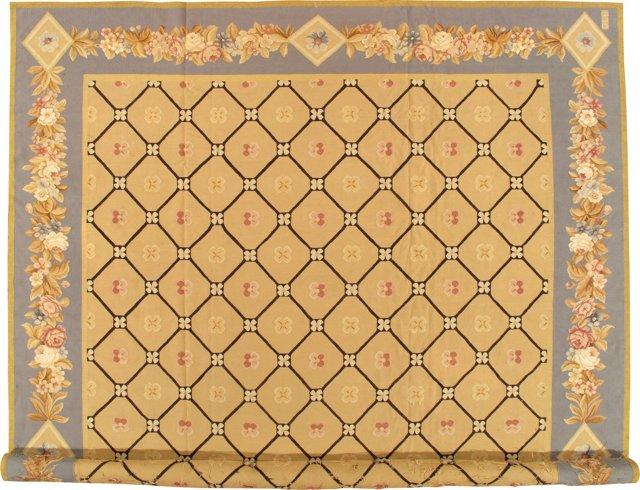 """Aubusson-Style Carpet, 12'3"""" x 18'2"""""""
