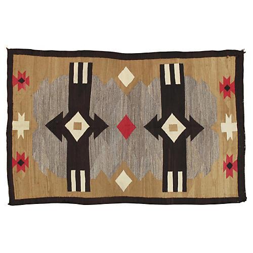 """Antique Navajo Style Rug, 4'6"""" x 7'"""