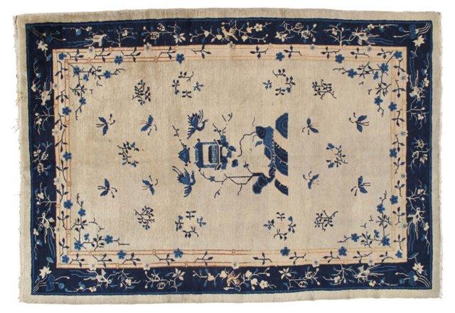 "Antique Chinese Carpet, 6' x 8'9"""