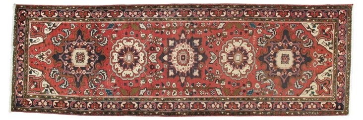 "Persian Heriz Runner, 3'4""  x 10'6"""