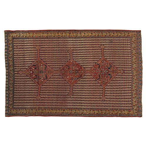 "Antique Qashqai Rug, 4' x 7'10"""
