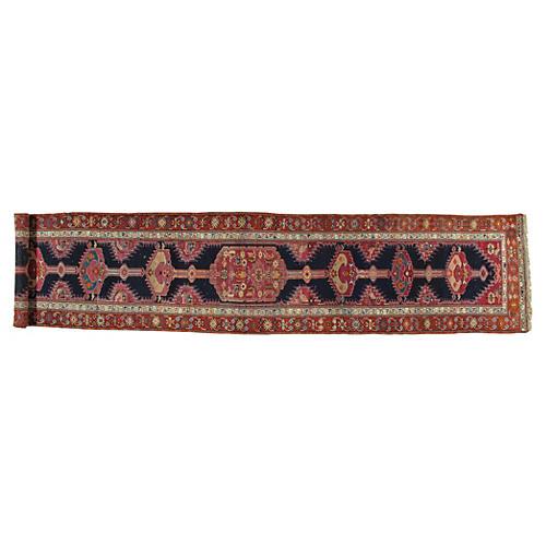 Antique Persian Serab Runner, 3' x 15'