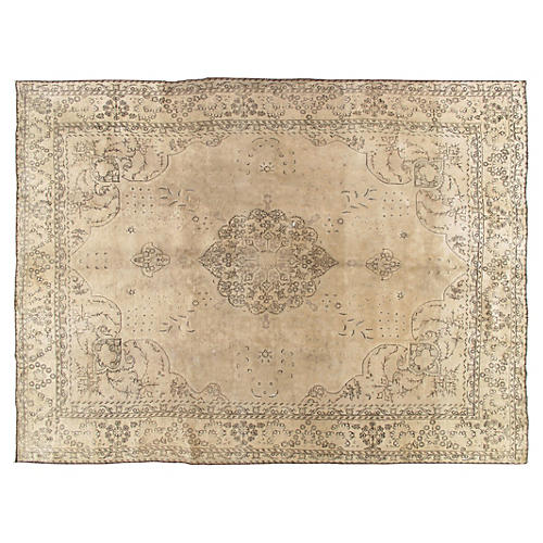 "Antique Tabriz Carpet, 9'7"" x 12'11"""