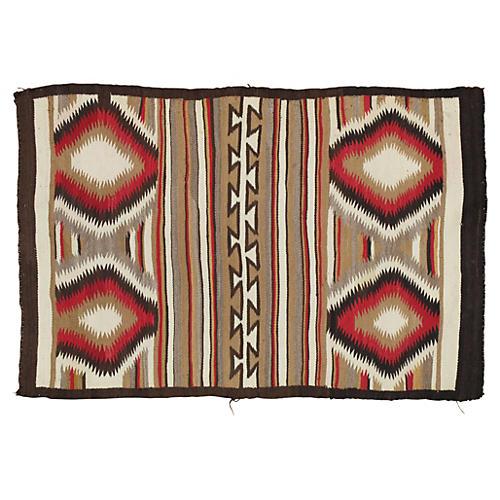 """Antique Navajo-Style Rug, 2'10"""" x 4'4"""""""
