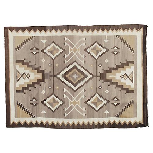 """Antique Navajo-Style Rug, 4' x 5'8"""""""