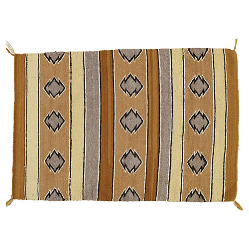 "Navajo-Style Rug, 2'4"" x 3'5"""