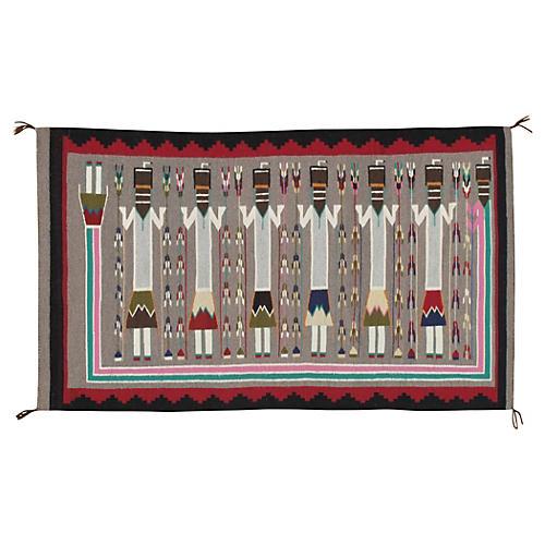 """Antique Navajo-Style Rug, 2'9"""" x 4'8"""""""