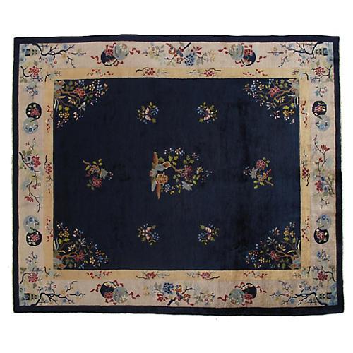 """Vintage Chinese Carpet, 8' x 9'7"""""""