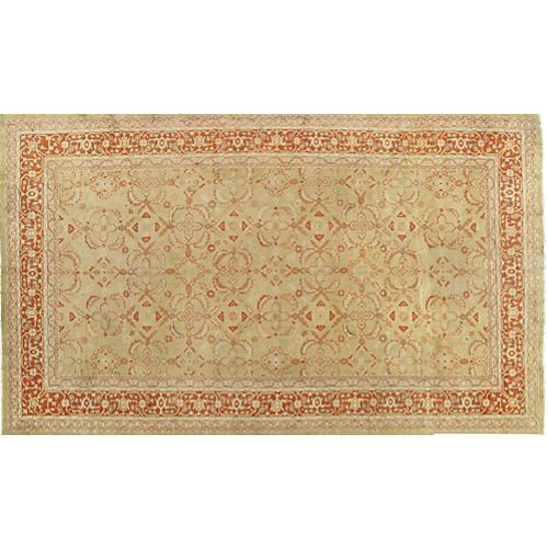 Antique Oushak Carpet, 10' x 17'