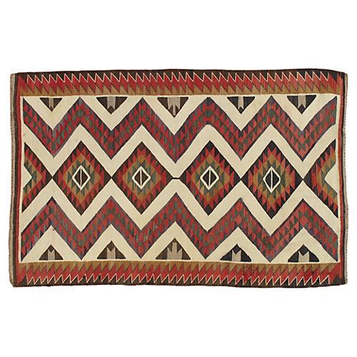 """Antique Navajo Style Rug 3'6""""x5'"""