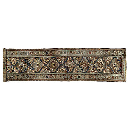 "Antique Malayer Runner, 3'4"" x 13'10"""