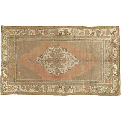 "Turkish Oushak Rug, 6'2"" x 10'"