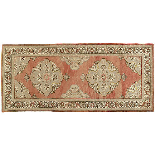 "Turkish Oushak Rug, 4'7"" x 10'6"""