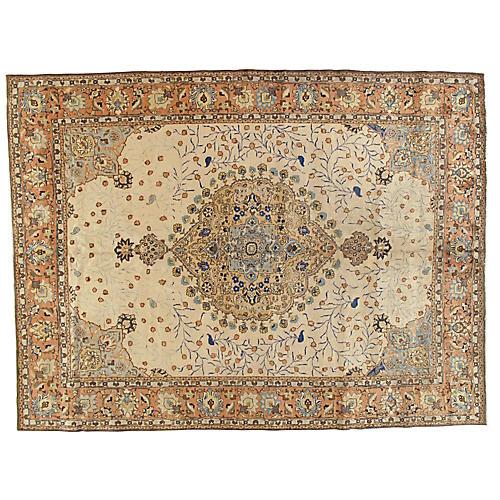 "Antique Tabriz Carpet, 8'6"" x 11'6"""
