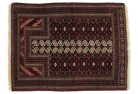Afghan Prayer Rug, 3' x 4'