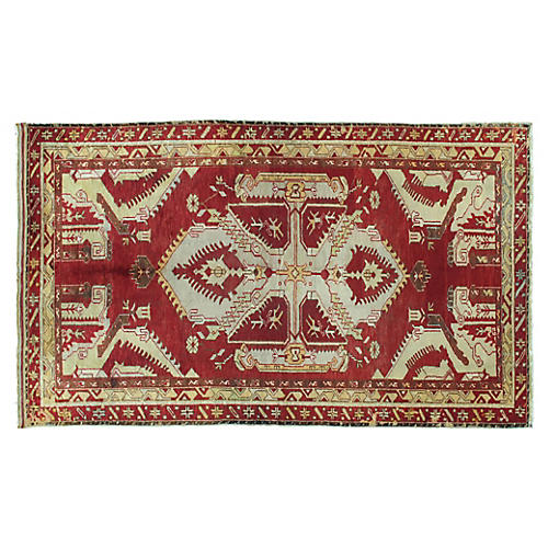 Antique Oushak Rug, 5' x 8'