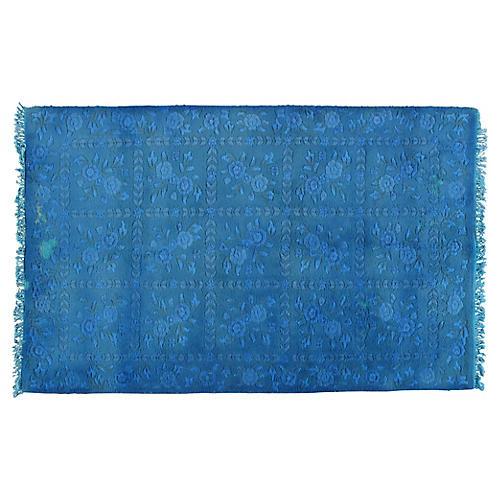 """Turkish Oushak Blue Rug, 5' x 7'10"""""""