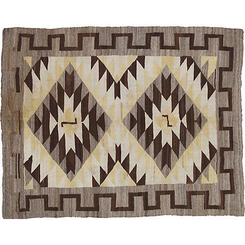Antique Navajo-Style Kilim, 5' x 6'