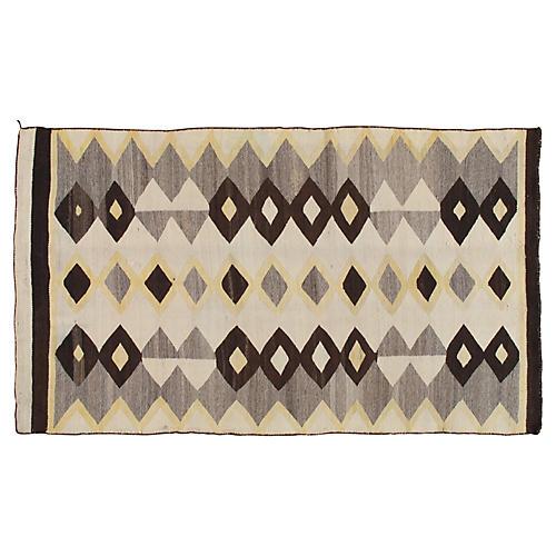 Navajo-Style Kilim, 4' x 7'