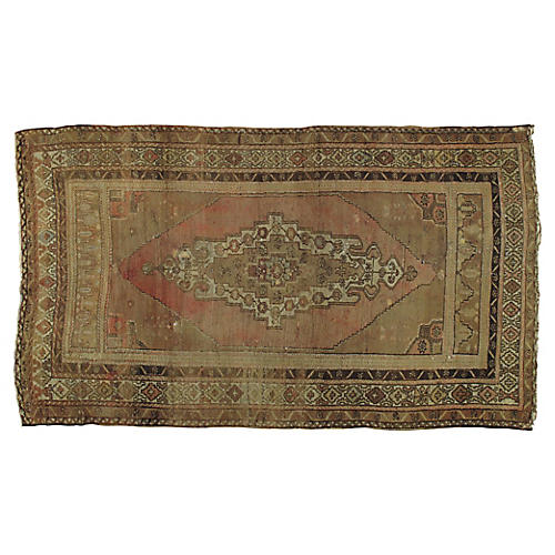 "Turkish Oushak Rug, 5'2"" x 8'6"""