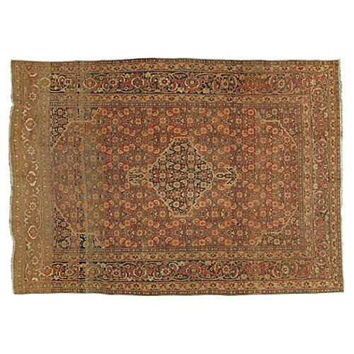 "Antique Tabriz Rug, 7'7"" x 10'7"""