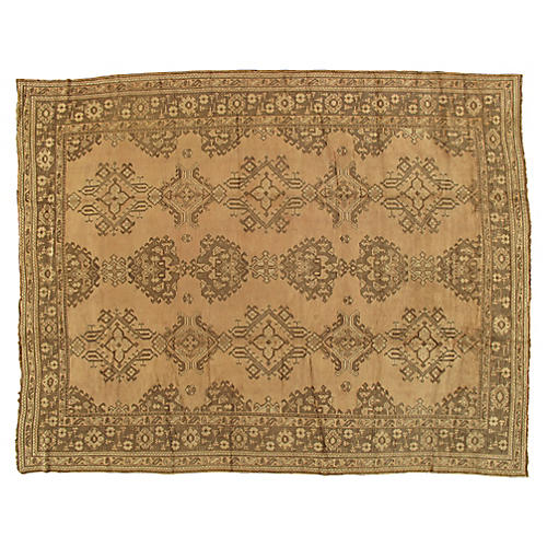 "Antique Oushak Rug, 9'9"" x 12'6"""
