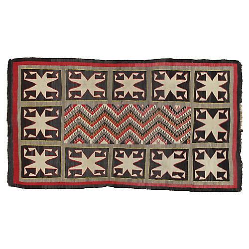 """Antique Navajo-Style Rug, 3'9"""" x 6'8"""""""