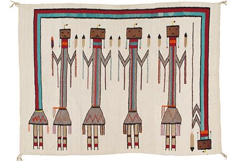 Navajo-Style Rug, 3'10