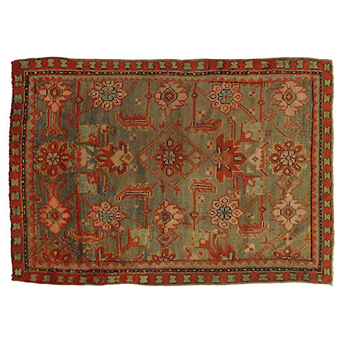 "19th-C. Oushak Rug, 4'6"" x 6'6"""