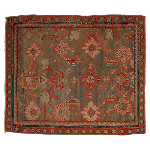 "19th-C. Oushak Rug, 4'6"" x 5'3"""
