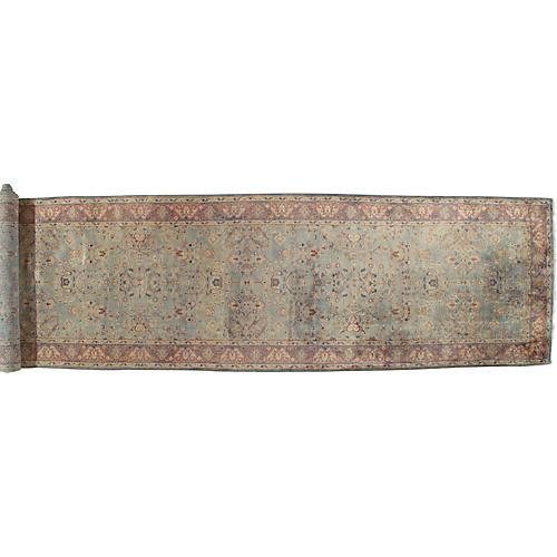 Antique Persian Mahal Runner, 4' x 19'