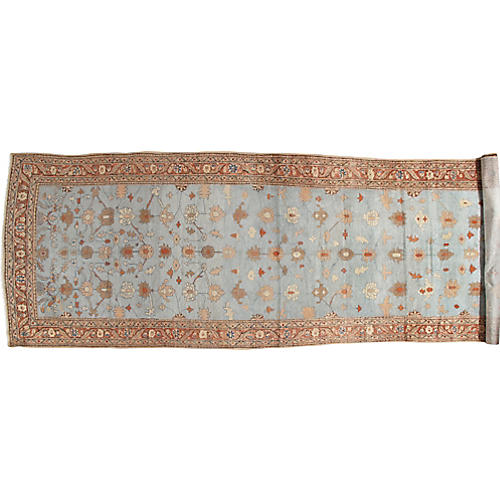 Antique Mahal Runner, 5' x 17'