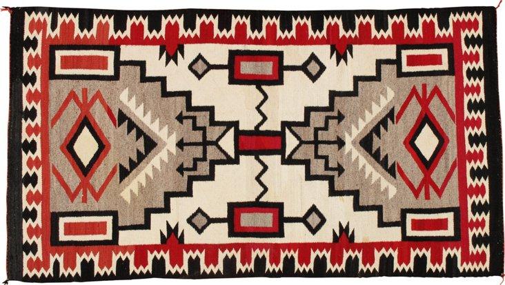 """Antique Navajo Rug, 7' x 3'9"""""""
