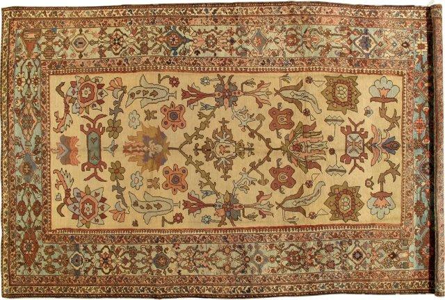 "Antique Serapi Carpet, 8'8"" x 13'7"""