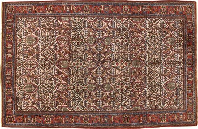 """Antique Persian Rug, 7'7"""" x 11'9"""""""