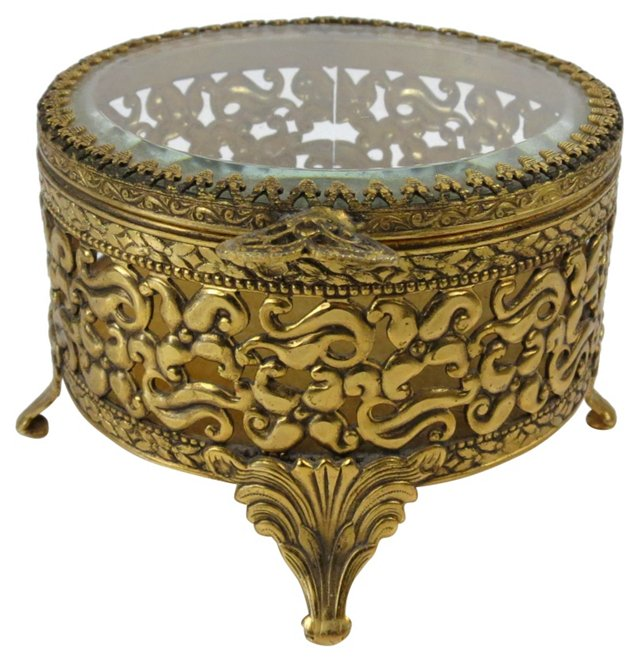 Round Filigree Jewel Box