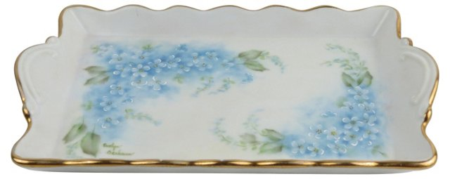 Hand-Painted Bluestar Ring Dish