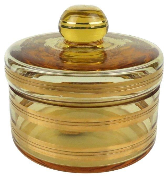 Amber Powder Jar