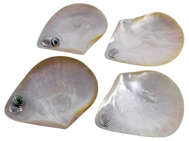 Abalone Caviar Shell Dishes, S/4