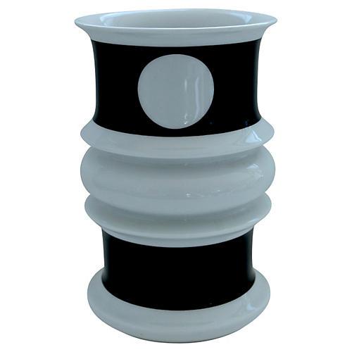 Black & White Geometric Vase