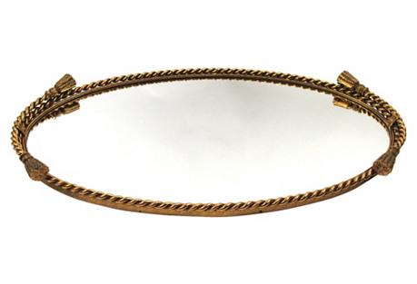 Gold Ribbon Vanity Tray